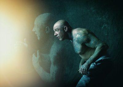 Composite image, martial arts moves